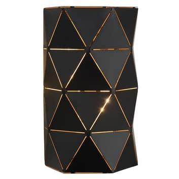 Czarna metalowa lampa ścienna Otona