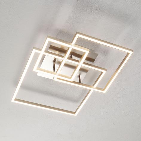 Lámpara techo LED con tres marcos metálicos Delian