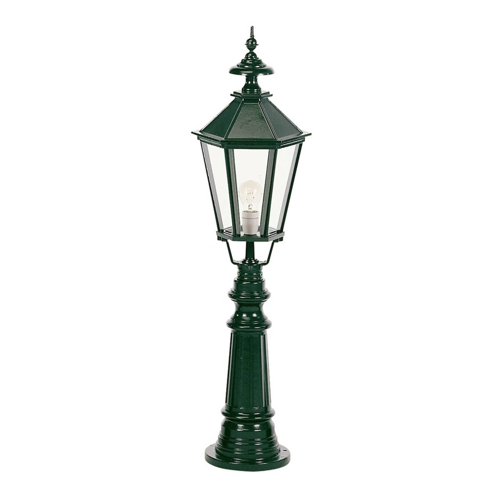 Klasyczny słupek oświetleniowy Liverpool, zielony