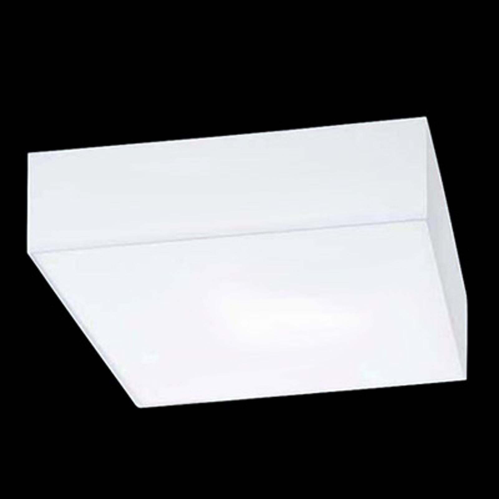 Plafoniera quadrata Cube Hela, bianca