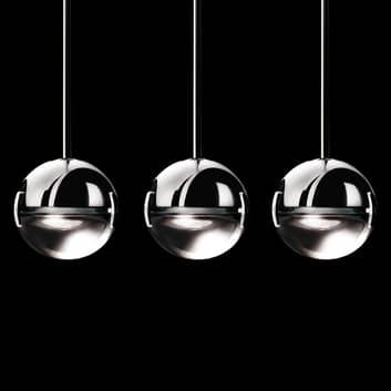Raffinata lampada a sospensione Convivio a 3 luci