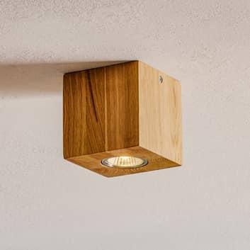 Lámpara techo Wooddream 1 luz roble angular 10cm