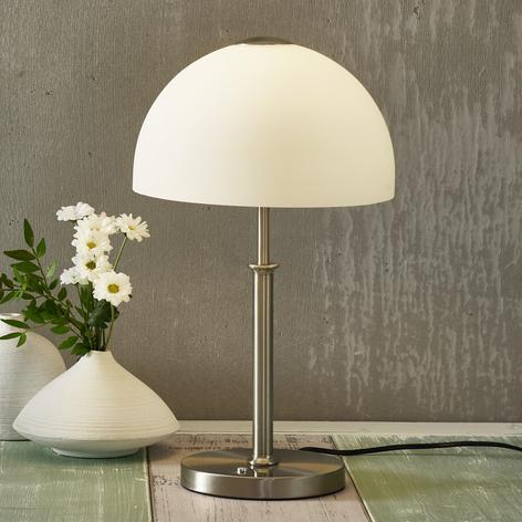 Dimbar LED-bordlampe Shine med glasskjerm