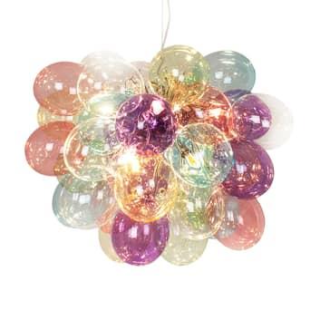 By Rydéns Gross glazen hanglamp, bont, 50 cm