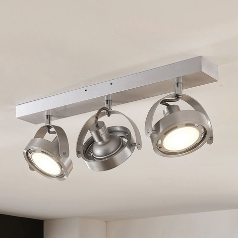 Faretto LED Munin dimmerabile, alluminio, 3 luce