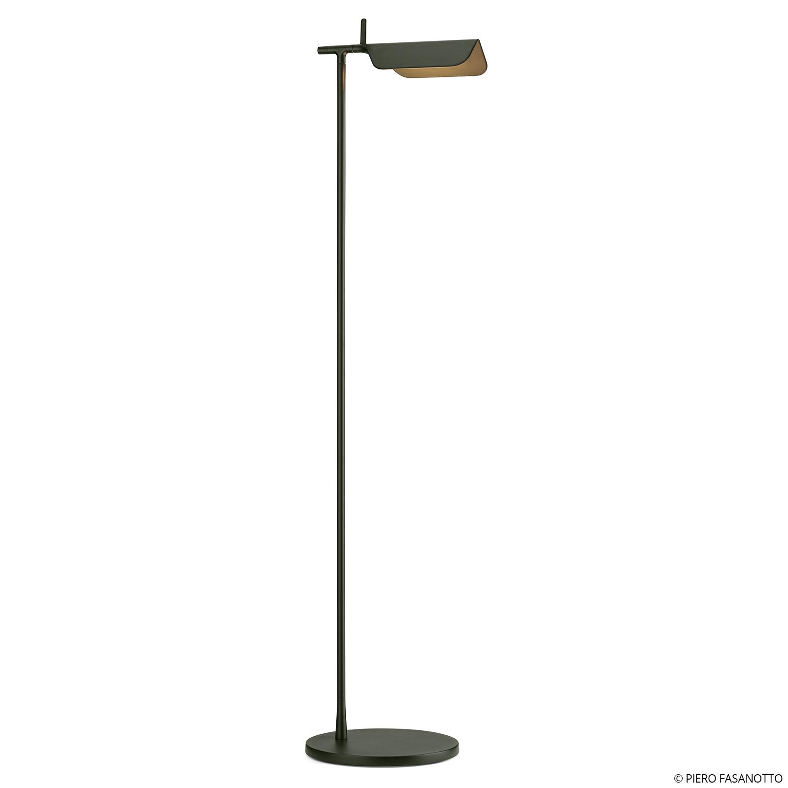 FLOS Tab F LED-Stehleuchte, dunkelgrün matt