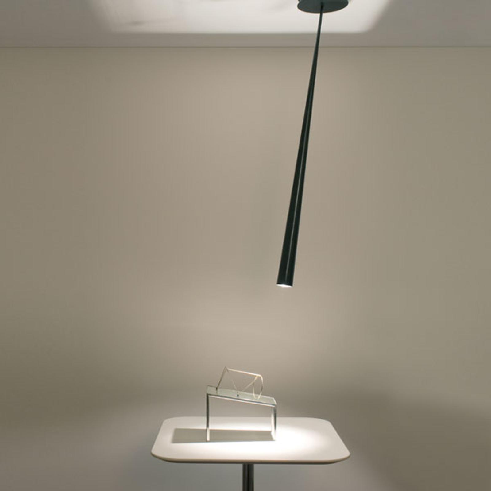 Designer-hengelampe Drink, svart, 127 cm
