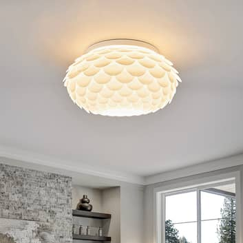 Lámpara de techo Marees en blanco, circular