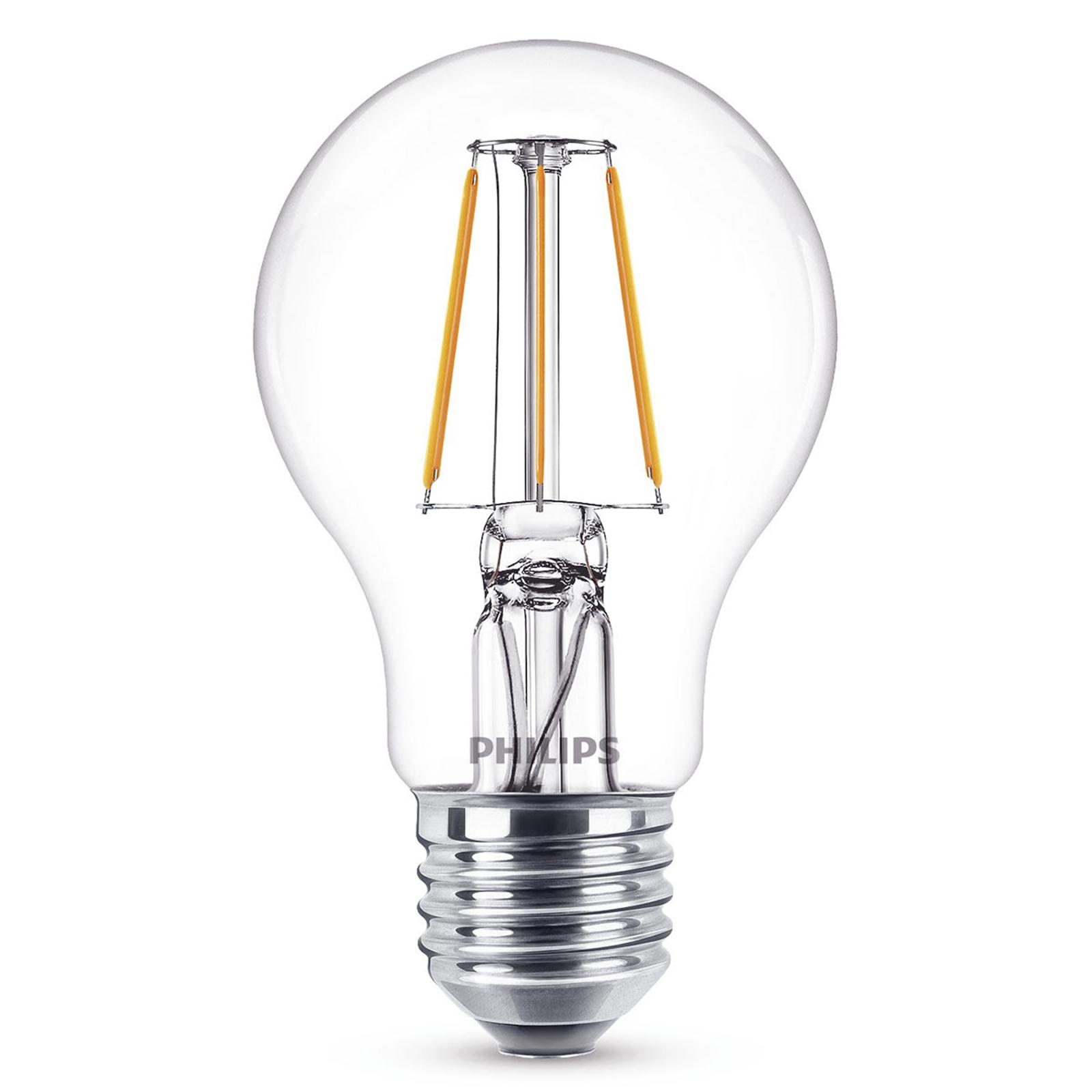 E27 A60 LED-pære filament 4W, 2.700 K, klar