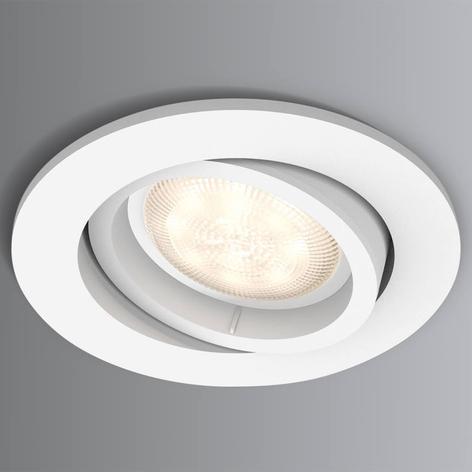 LED downlight Shellbark hvit m. warmglow-effekt