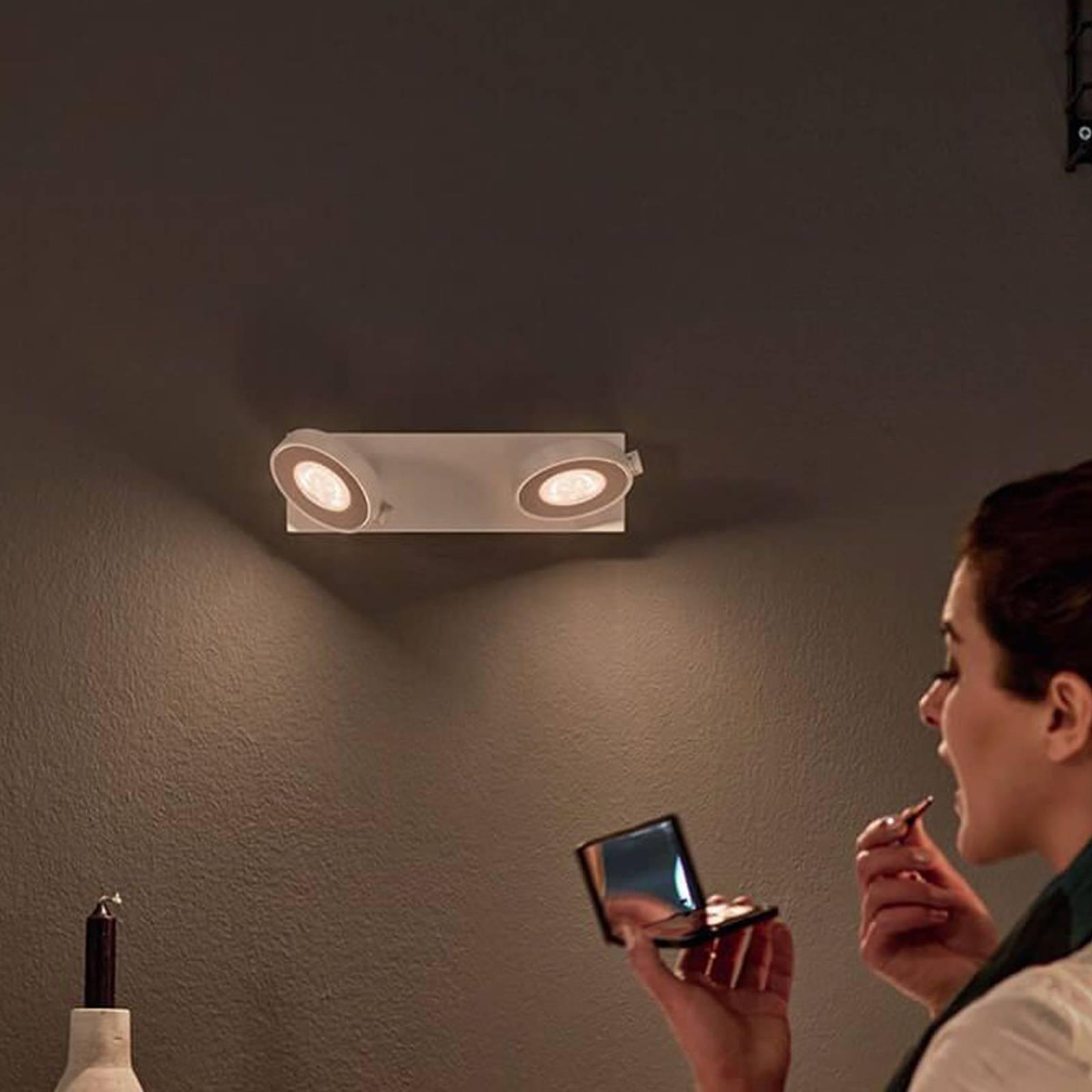 Philips Clockwork faretto LED 2 luci WarmGlow