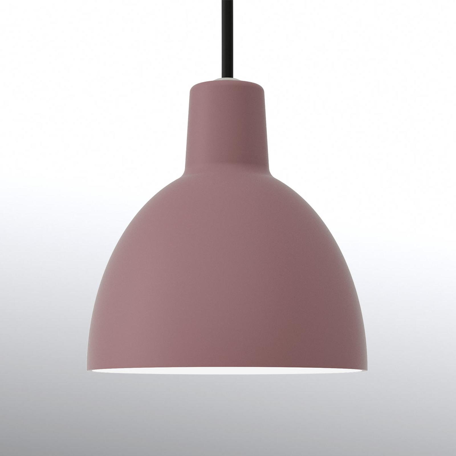 Minimalistische hanglamp Toldbod 120, donker rosé