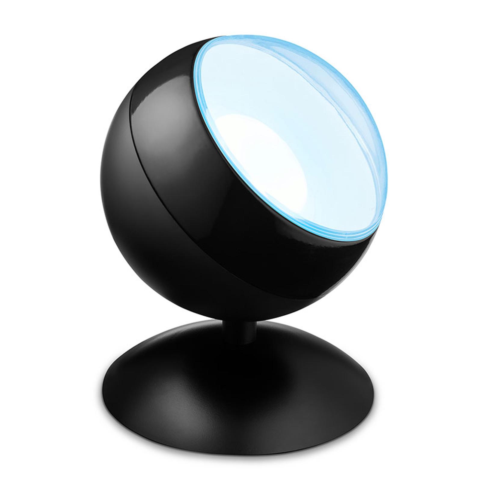 WiZ Quest LED-Tischleuchte, RGBW, Schwarz