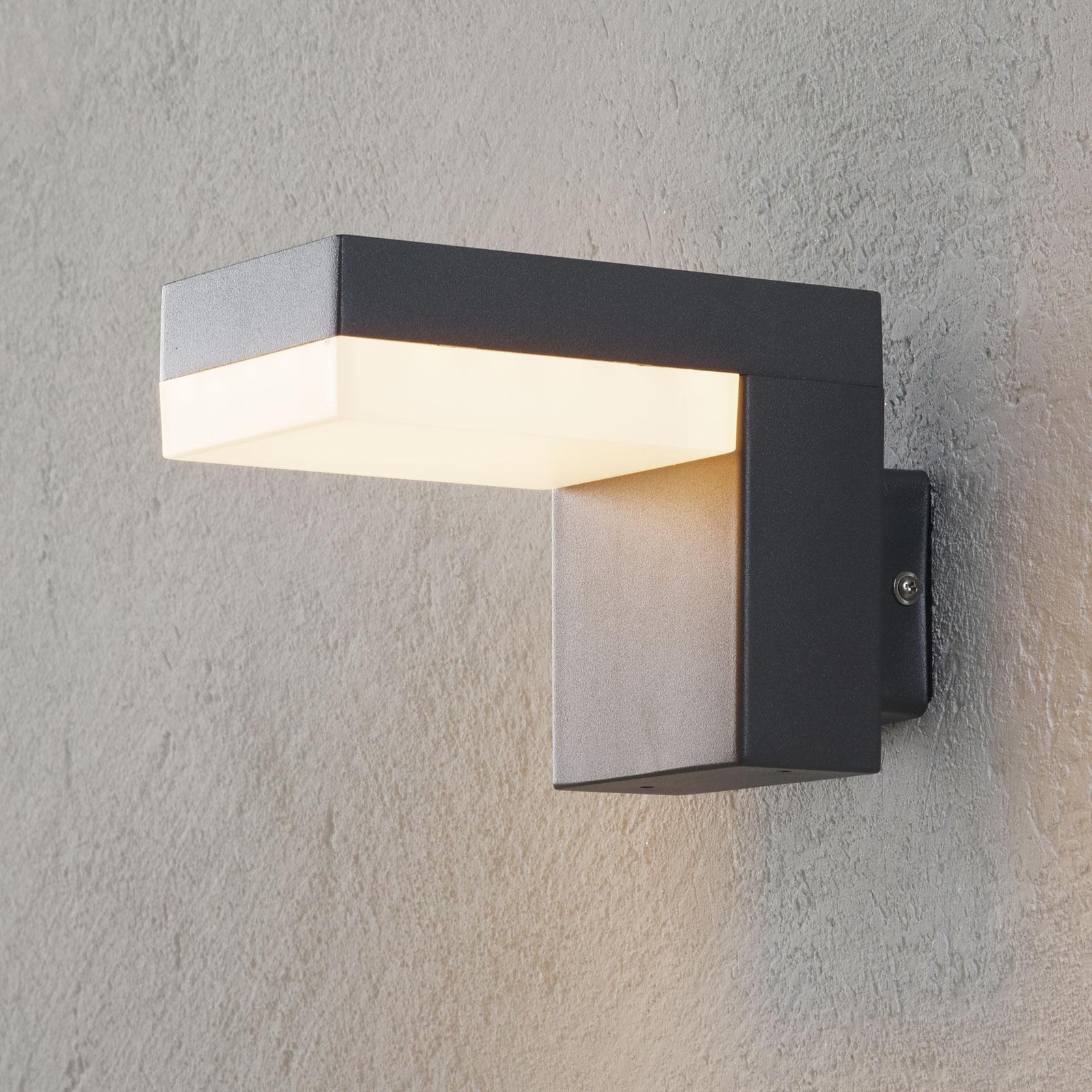 Applique d'extérieur LED Dionys en gris foncé