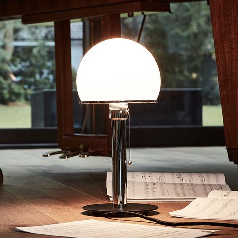 Wagenfeld-bordslampa med svart lackerad lampfot