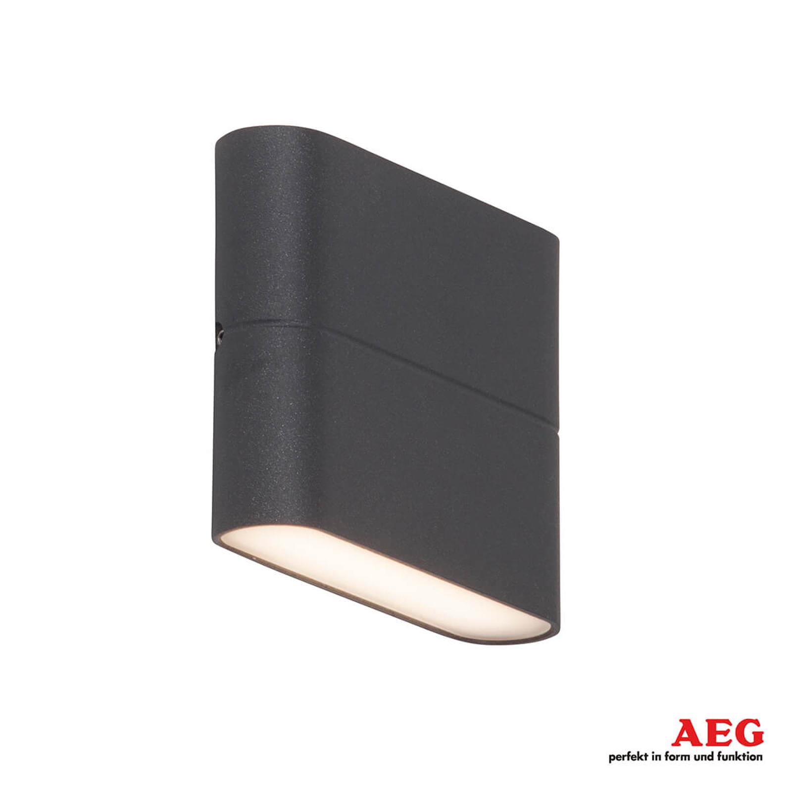 AEG Telesto - LED-Außenwandlampe 11,5 cm breit