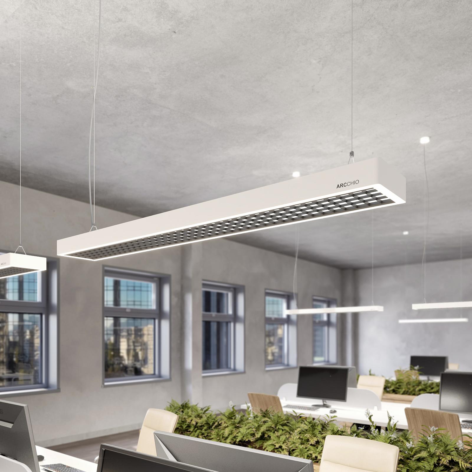 Susi LED-kontorhængelampe kan dæmpes m DALI, hvid