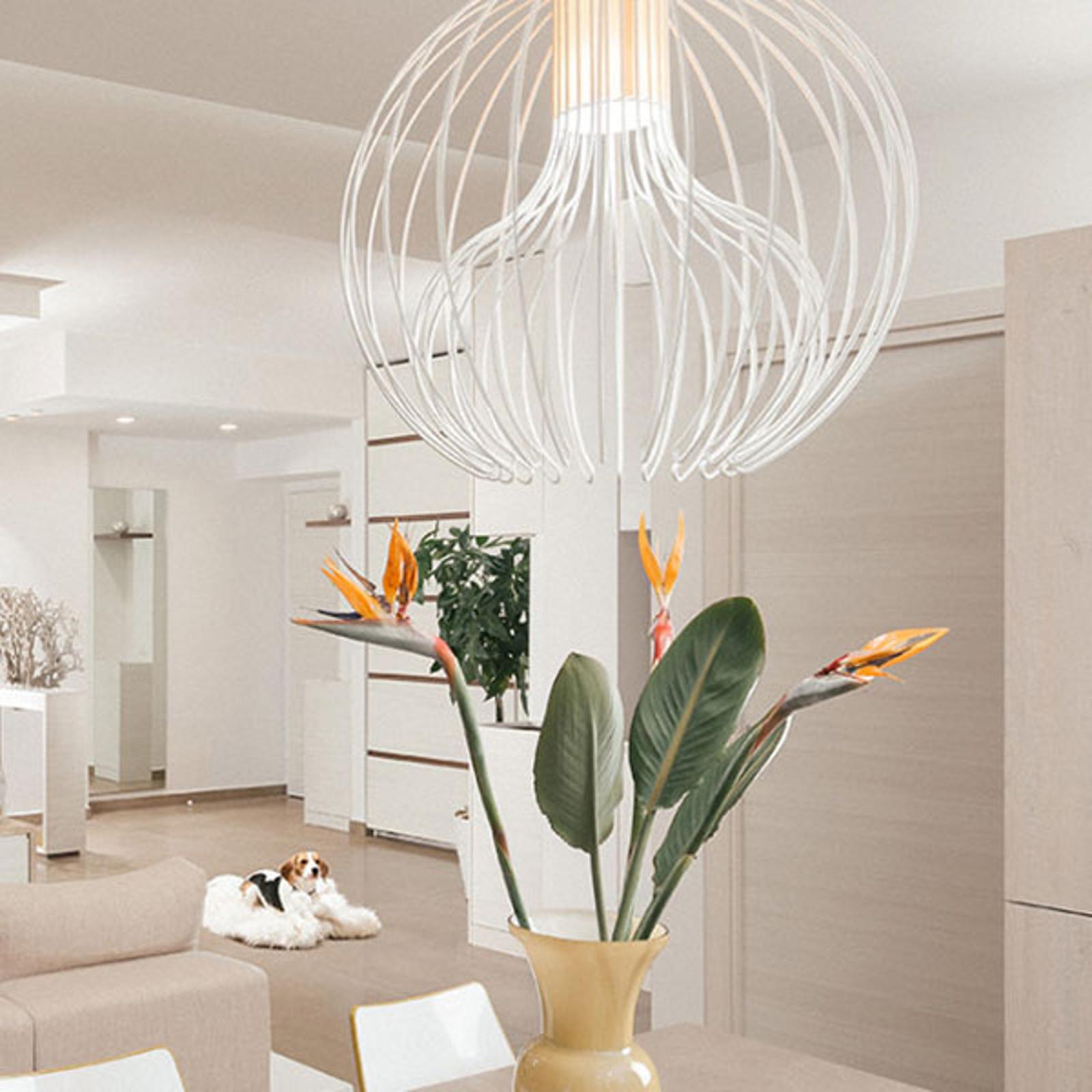 Modo Luce Icaro Ball lampa wisząca, biała, Ø 60 cm