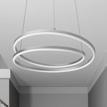 Lindby Davian LED-hængelampe, med dæmper, nikkel