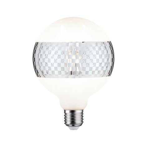 Paulmann E27 Globe LED 4,5W anello quadretti