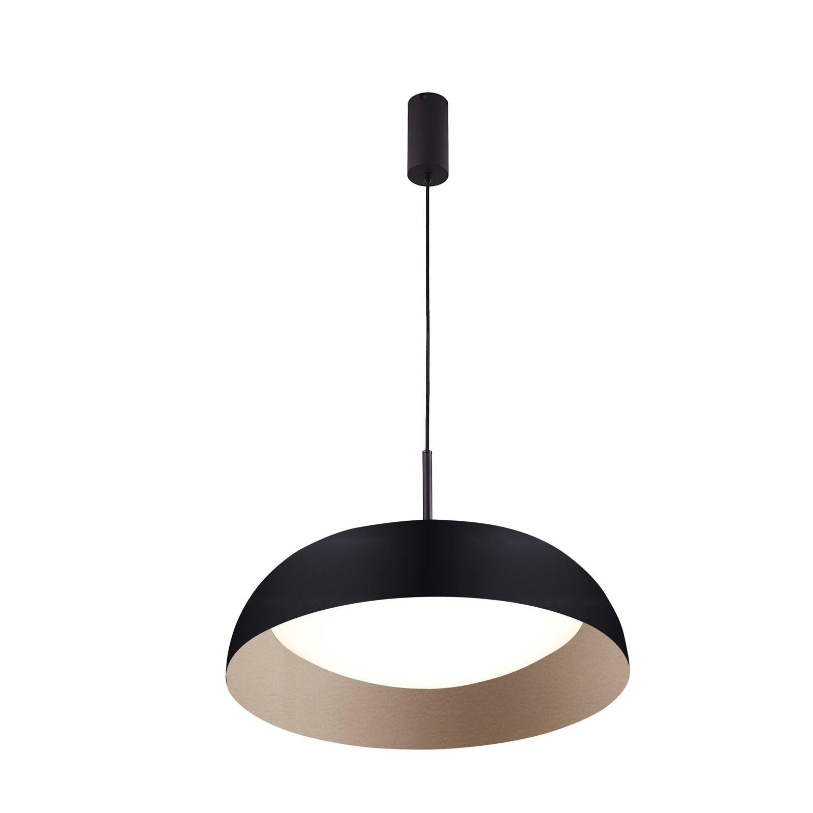 Arcchio Karuna suspension LED, noire-dorée