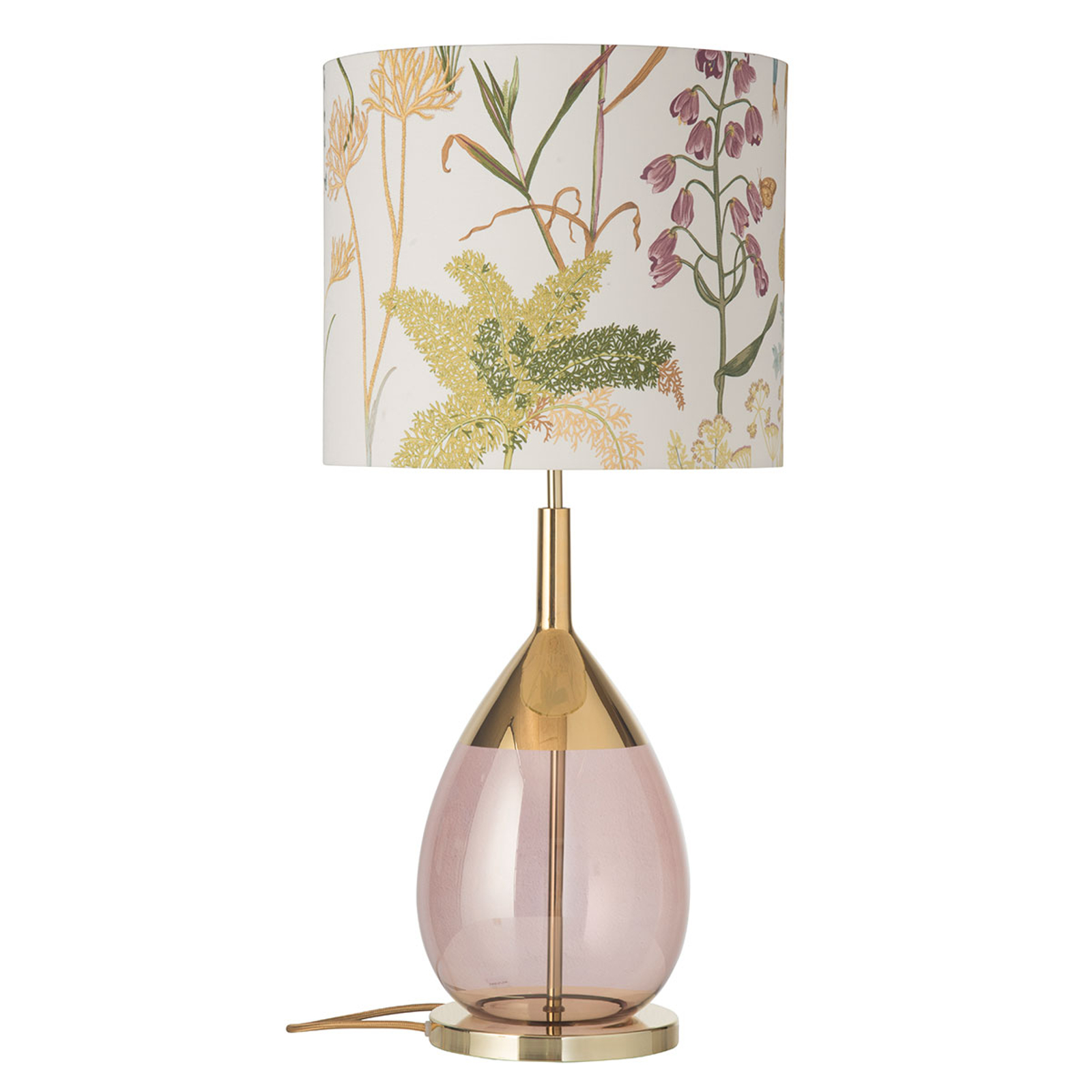 EBB & FLOW Lute lampa stołowa z kloszem Botanical