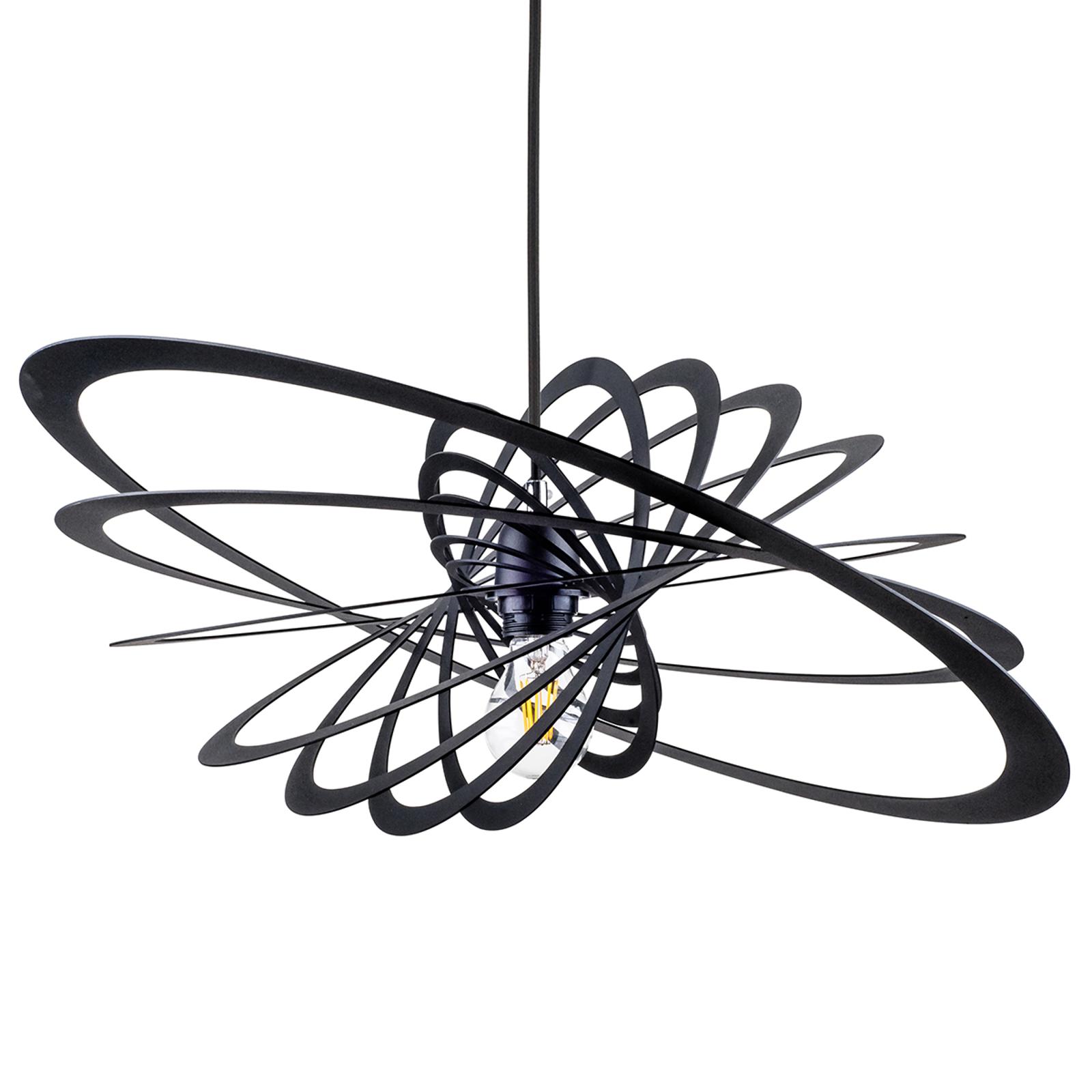 Niezwykła lampa wisząca Planet, 60cm, czarna