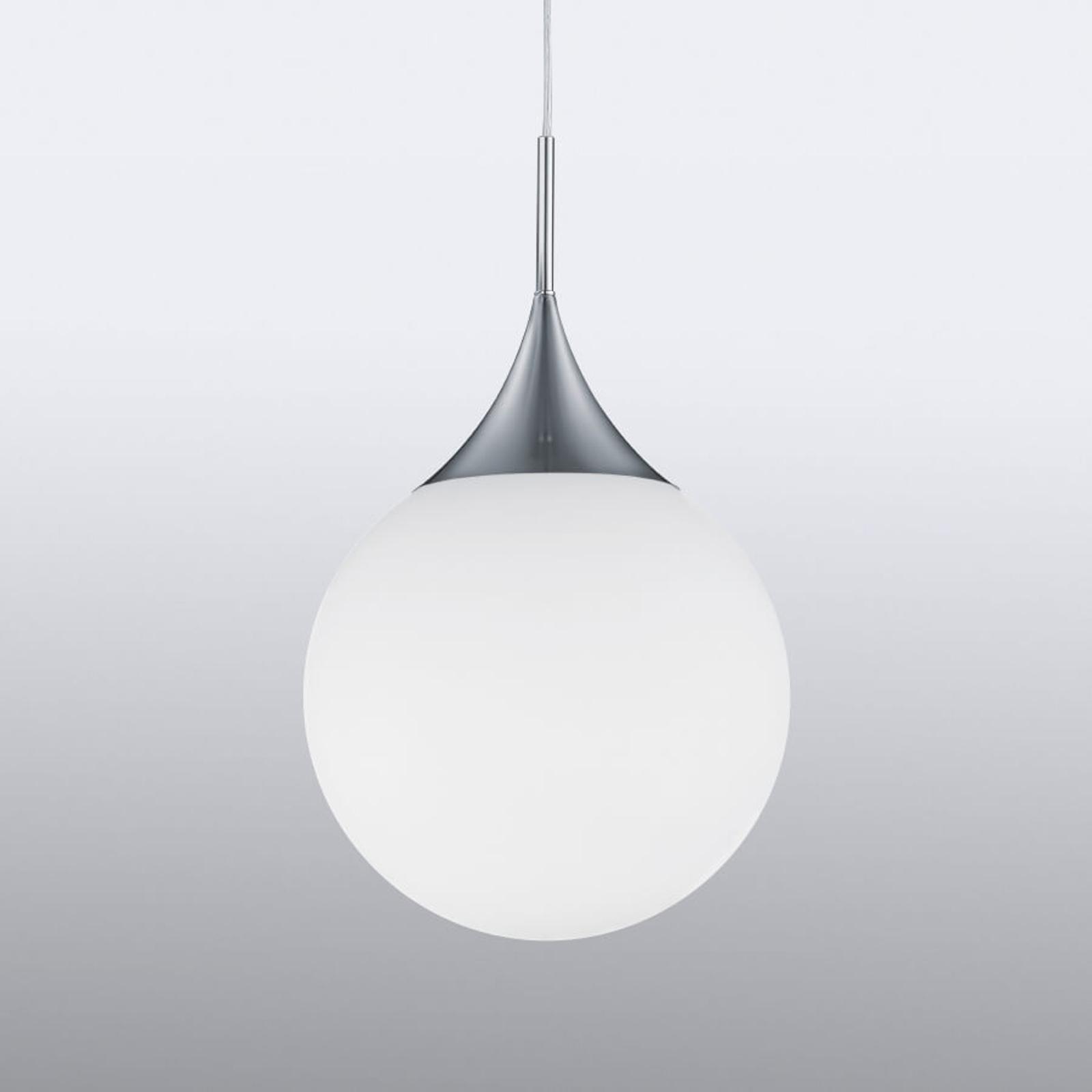 Hängeleuchte Midas aus Glas, Ø 30 cm, weiß