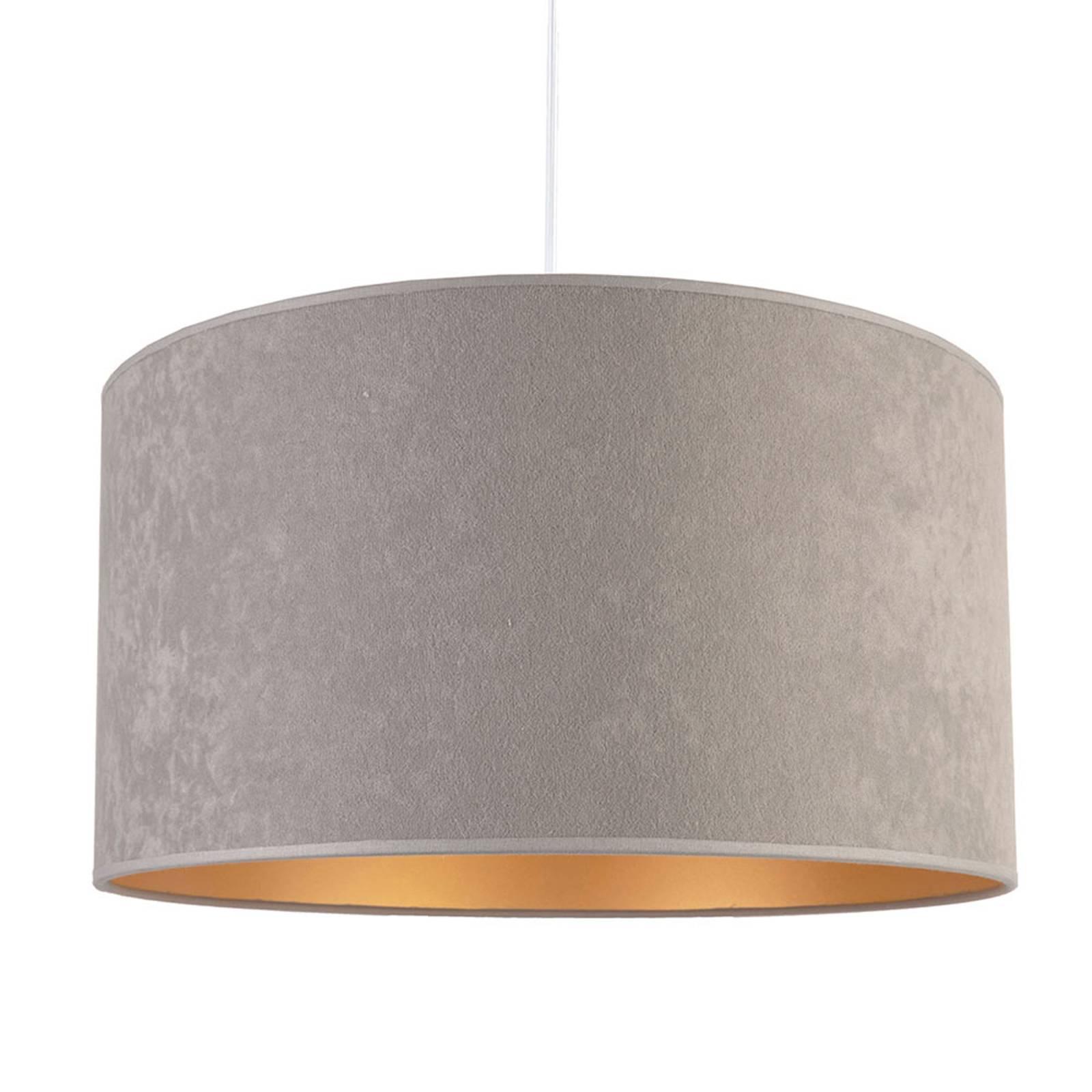 Lampa wisząca Roller, szara/złota