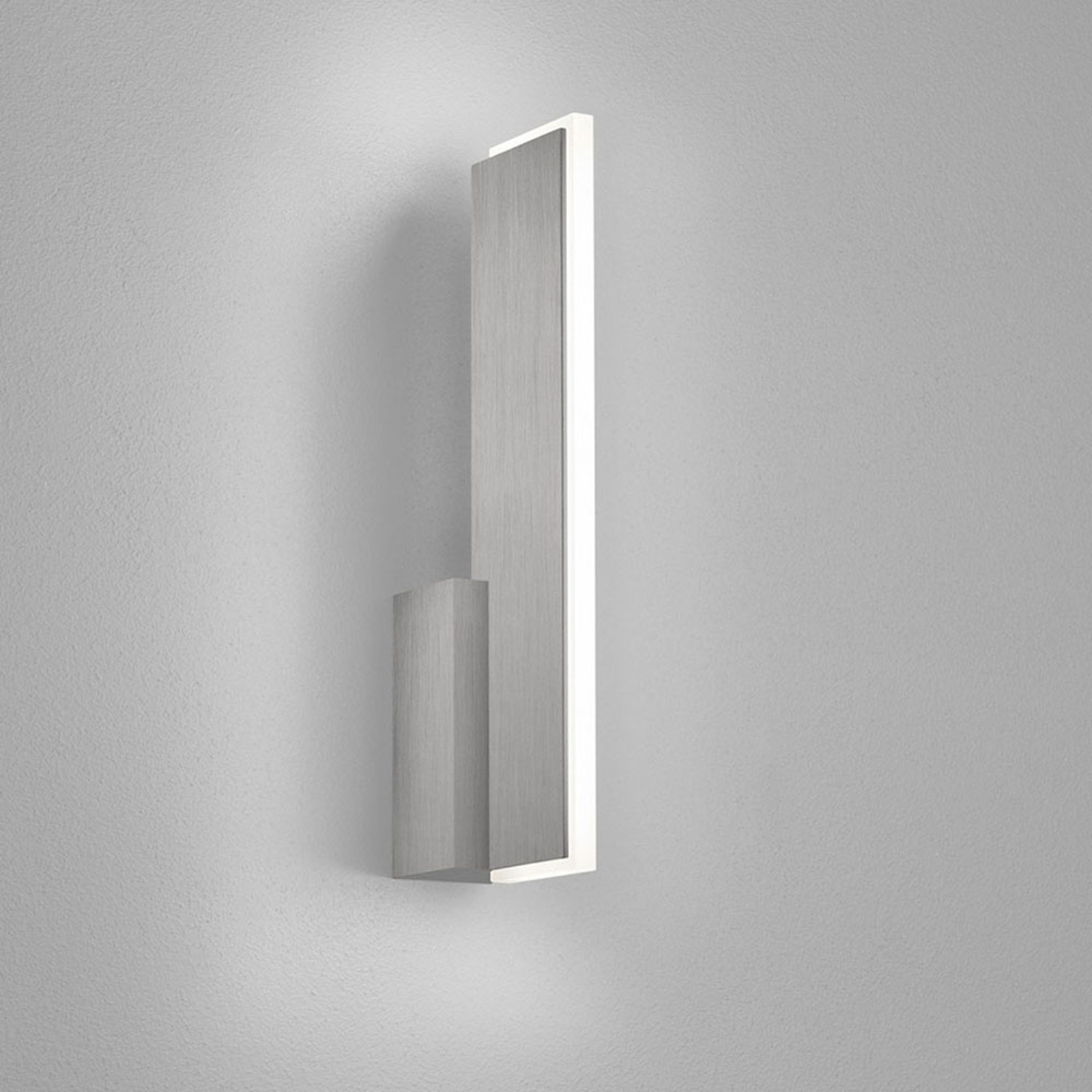 Helestra Nex LED-Wandleuchte nickel matt