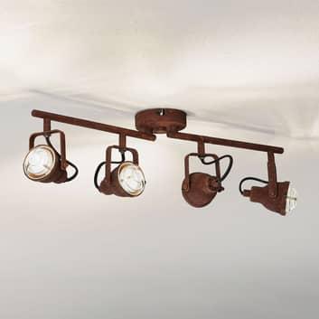 Taklampa Bente rost avlång 4 lampor