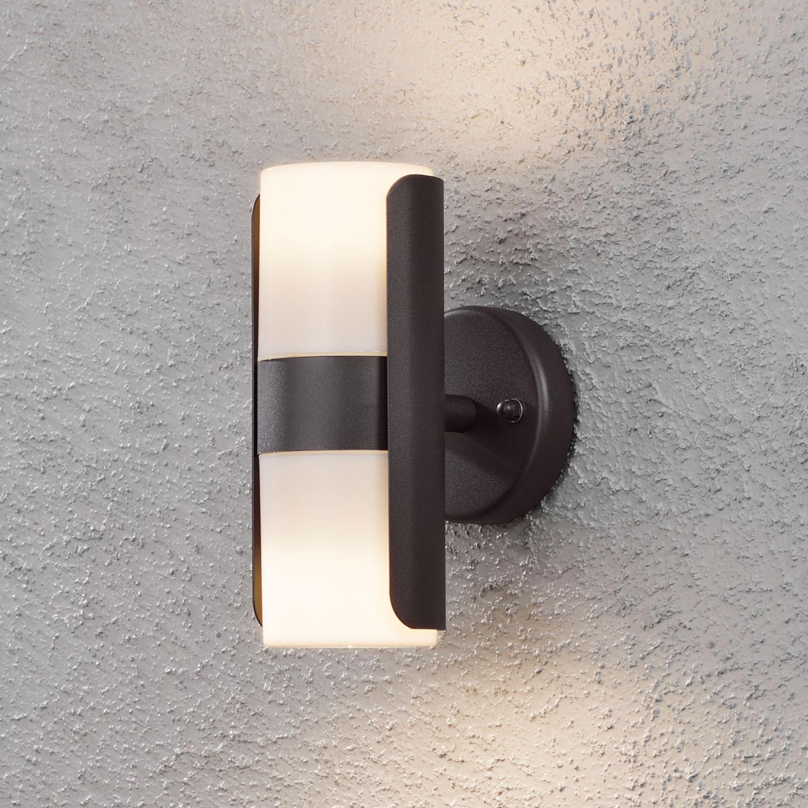 Buitenwandlamp Modena met witte acrylkappen