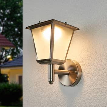Aplique solar exterior Anica LED, acero inoxidable