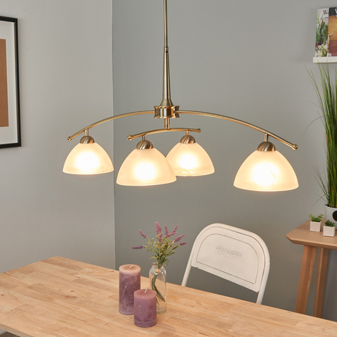 Hanglamp PIHLA in oud messing