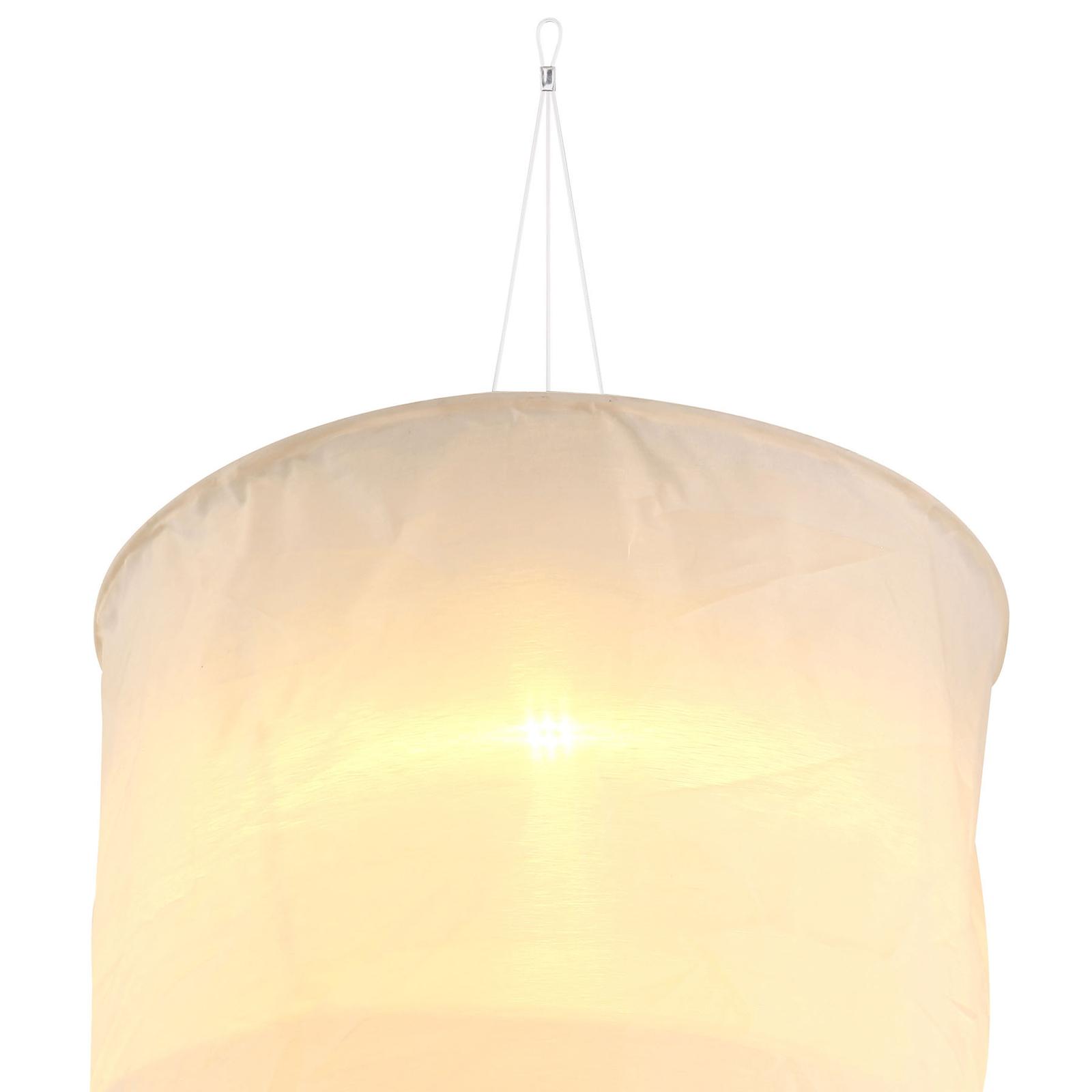 Solarna lampa wisząca 33981 z płóciennym kloszem