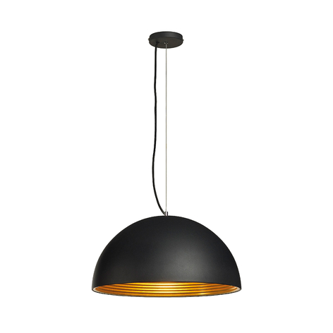 Pendellamp Forchini M 50 cm zwart goud