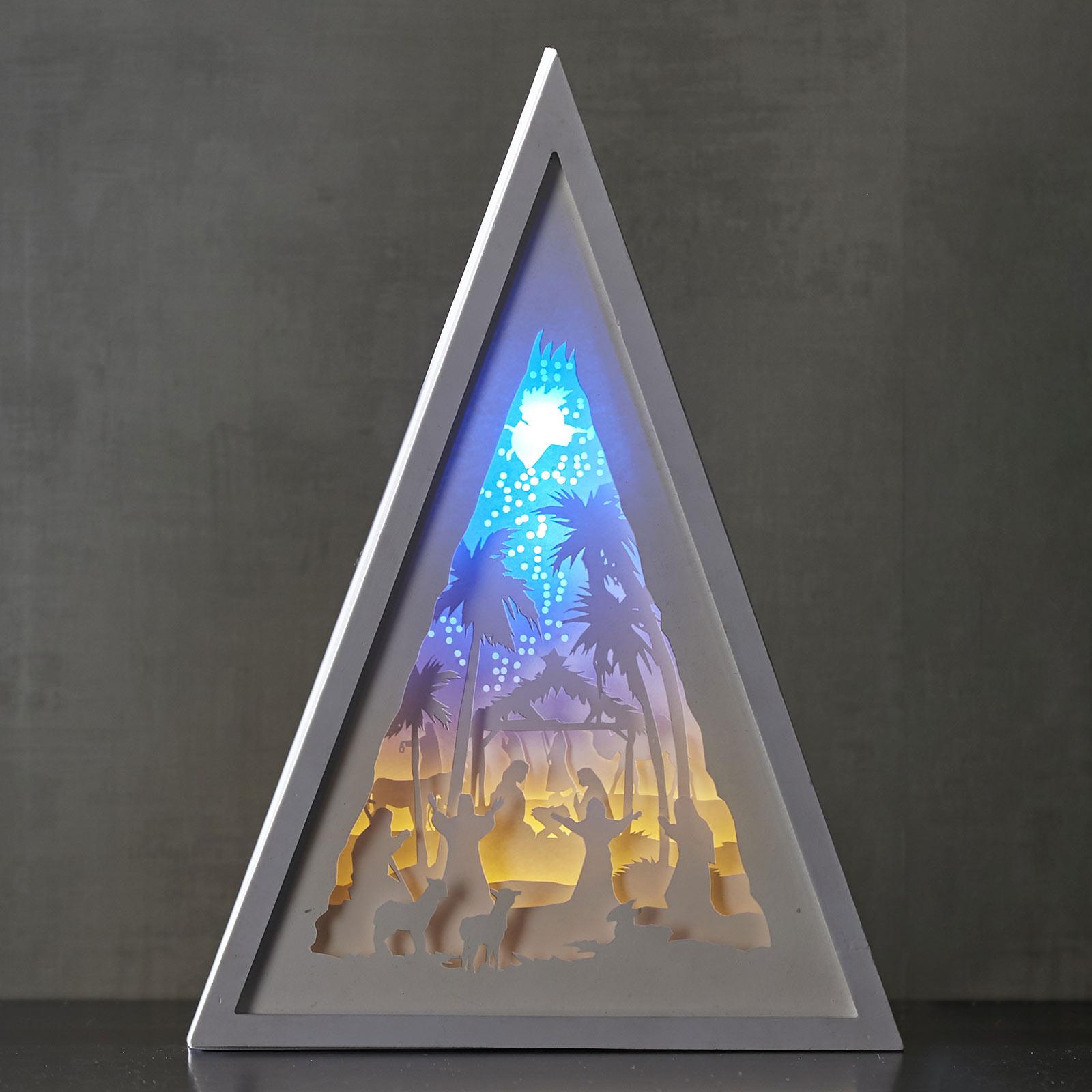 LED-Bild Scenery Krippe