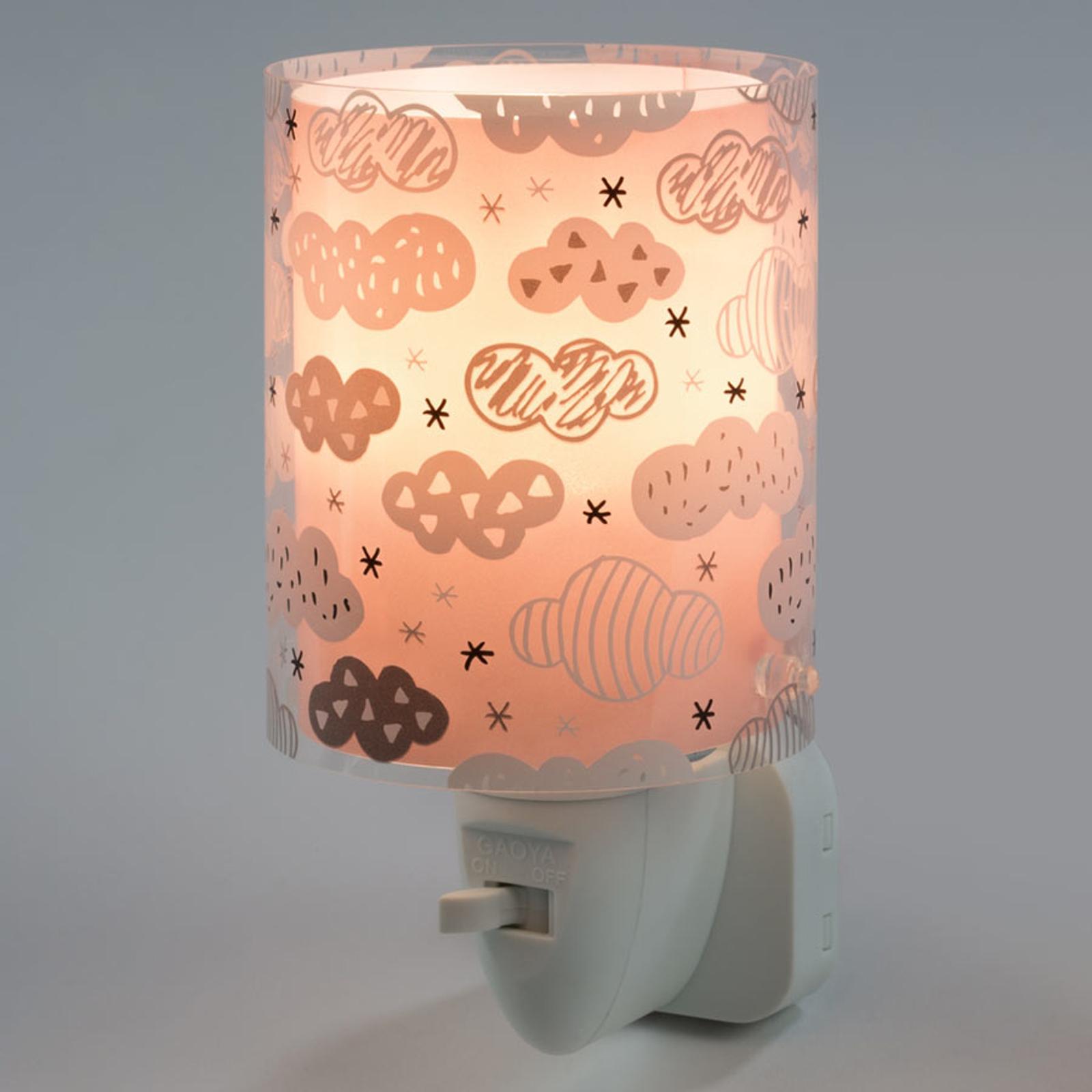 LED-Nachtlicht Clouds mit Schalter, rosa