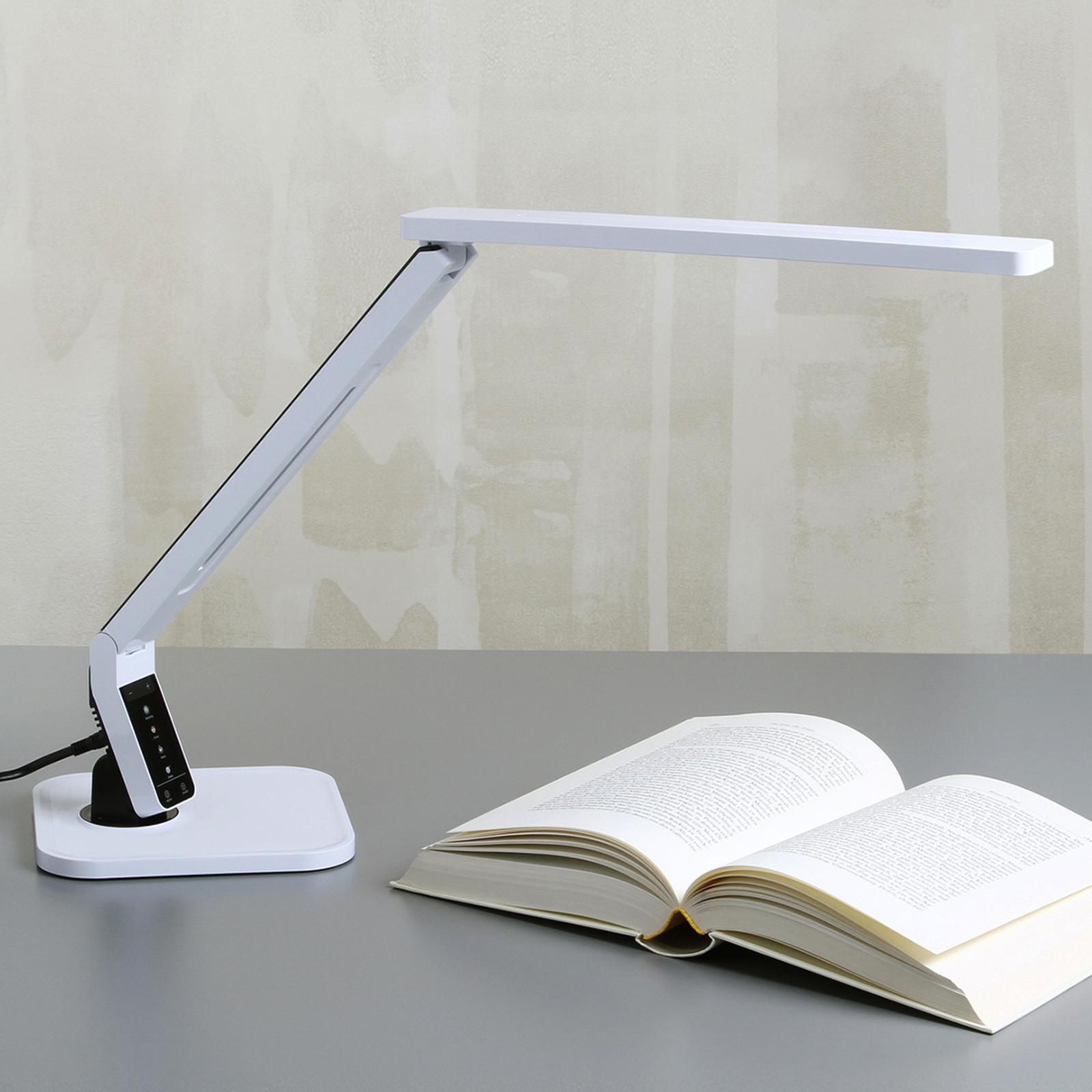 Den toppmoderne LED-skrivebordslampen Eleni, hvit
