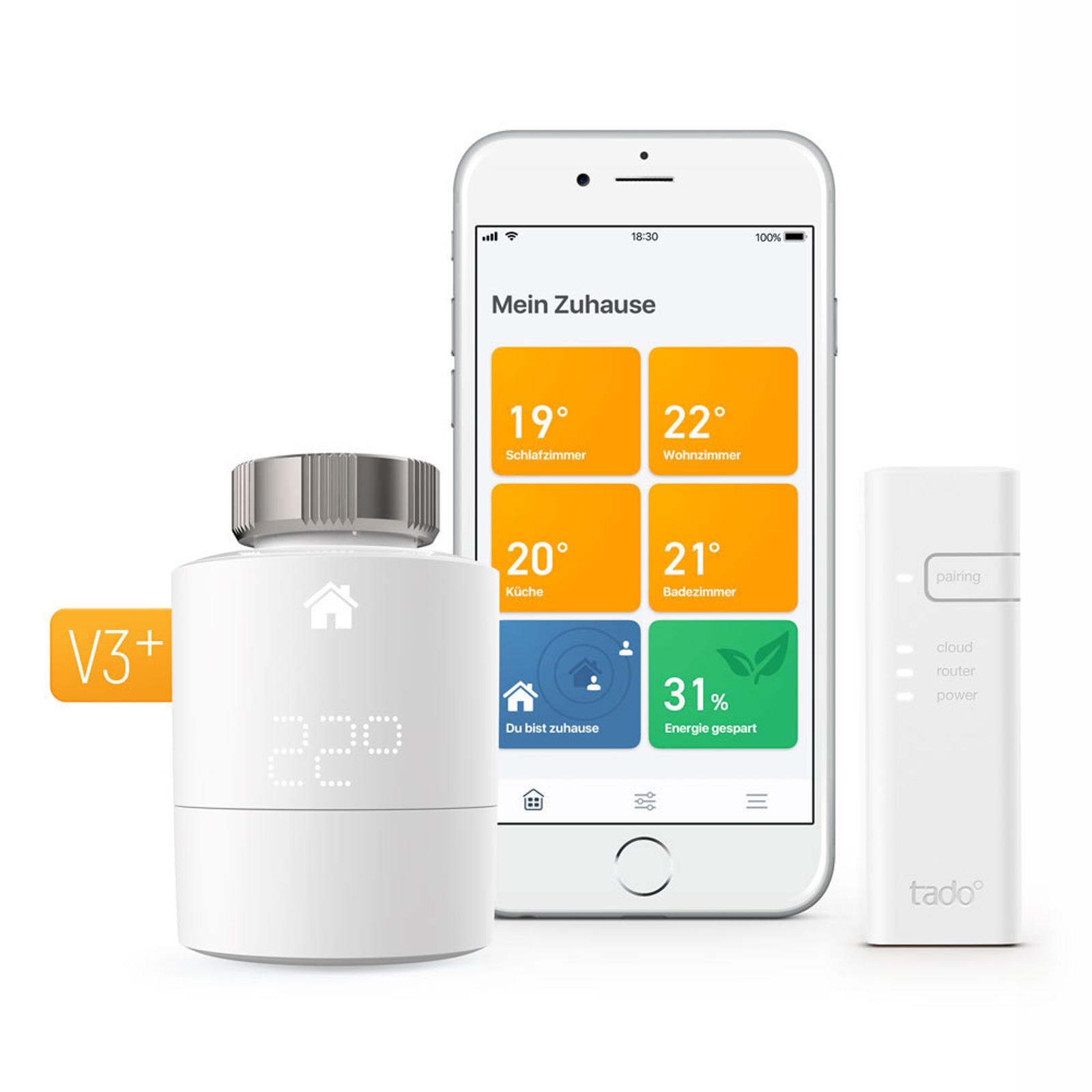 tado° Smartes Heizkörper-Thermostat StarterKit V3+