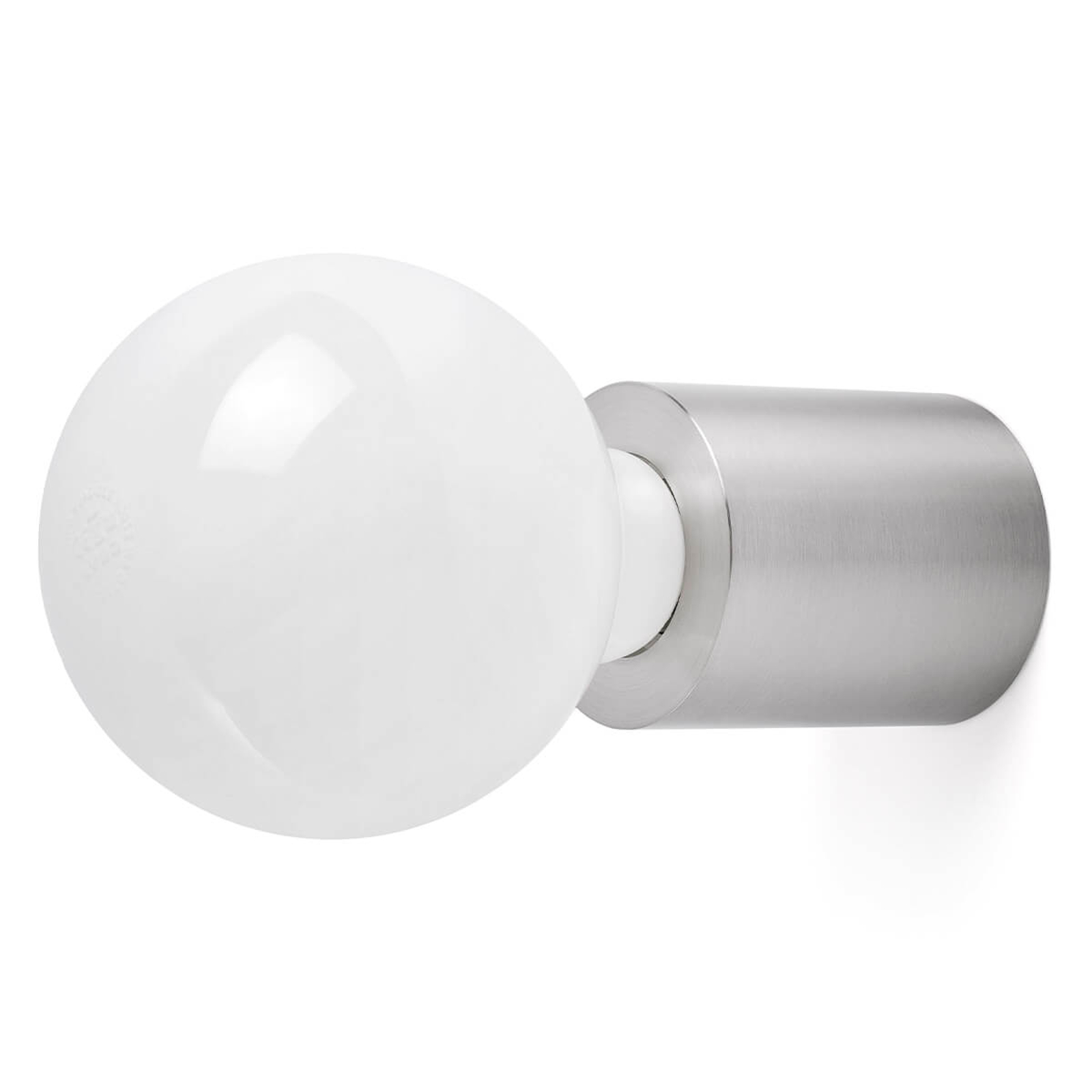 Ten - minimalistische wandlamp, mat nikkel