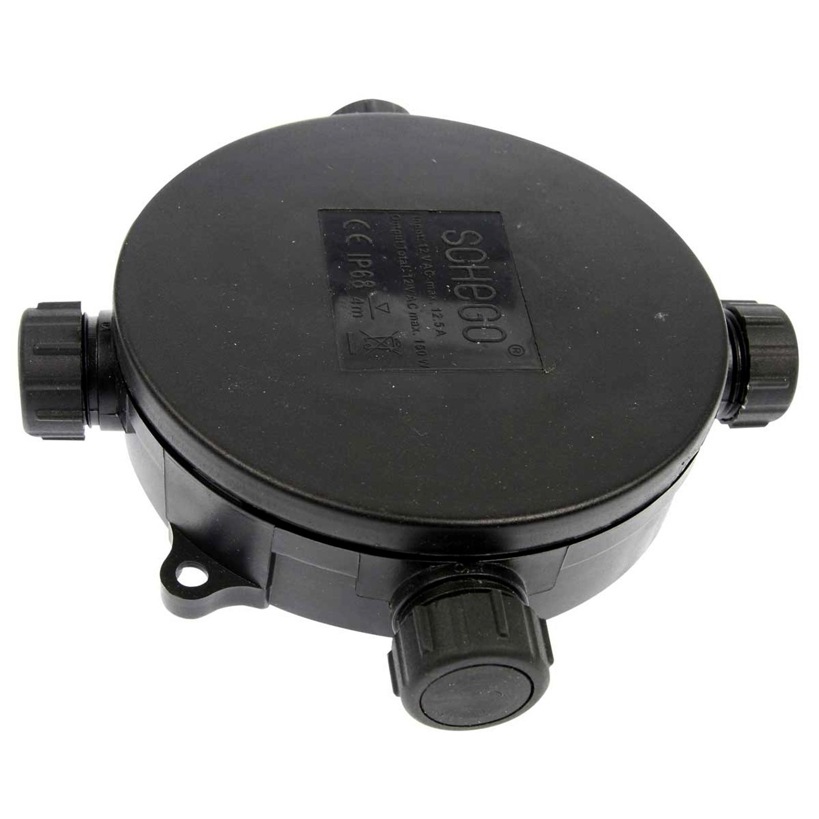 Répartiteur de câble à 3 prises étanche rond