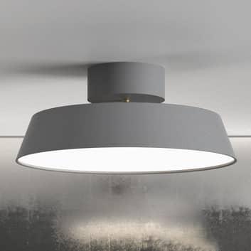 LED-Deckenleuchte Alba, schwenkbar, grau, dimmbar