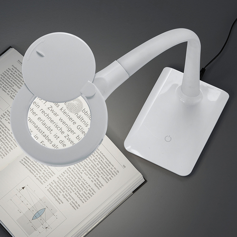 Mit Fuß - LED-Lupenleuchte Lupo in Weiß