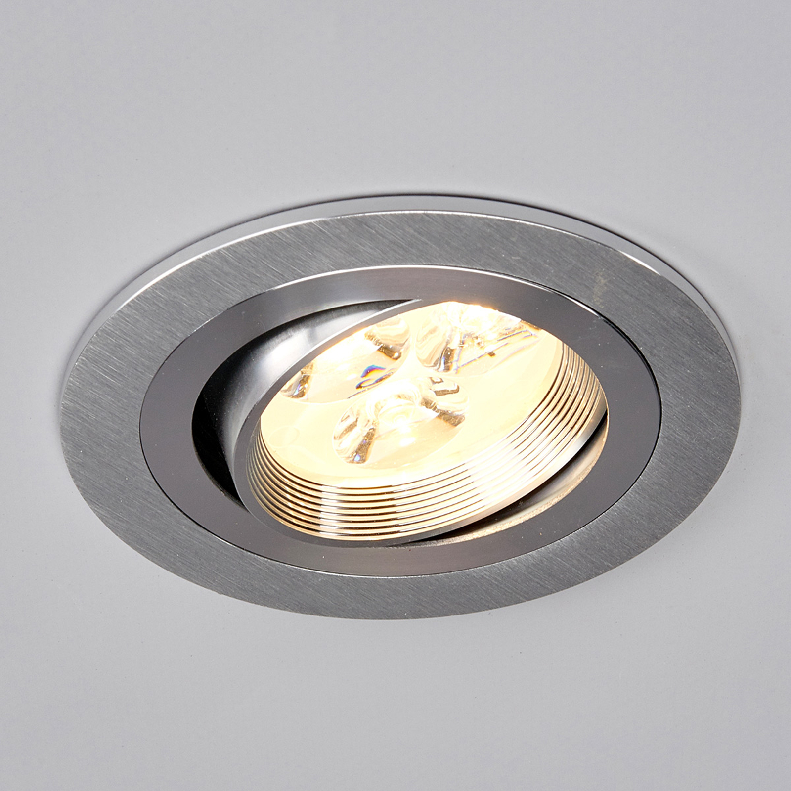 Ronde LED-inbouwspot Tjark van aluminium