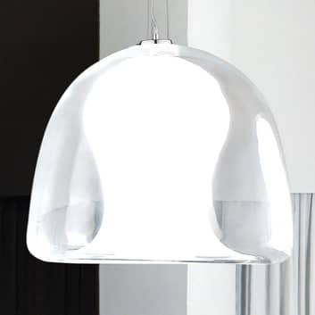 Hængelampe Naranza, krystalglas, Ø 40 cm hvid