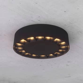 Lucande LED plafone esterni Kelissa nero rotondo
