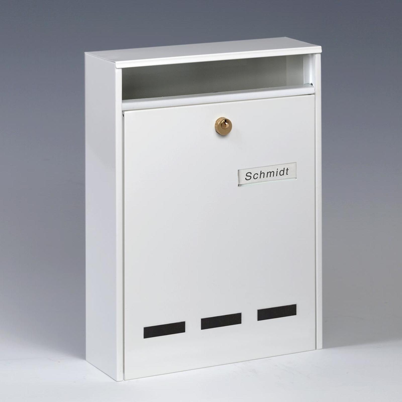 Hvitt WISMAR postkasseanlegg for DIN A4-format