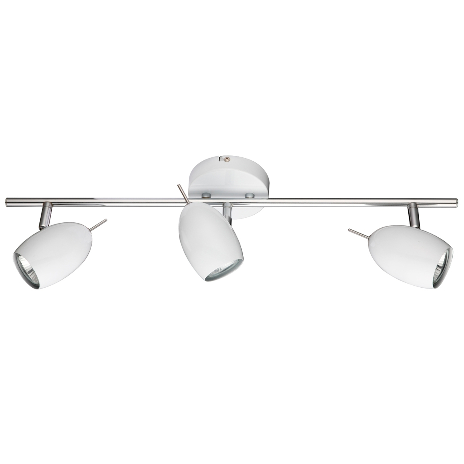Geniale LED-plafondlamp QUINCHY, 3-lichts, wit