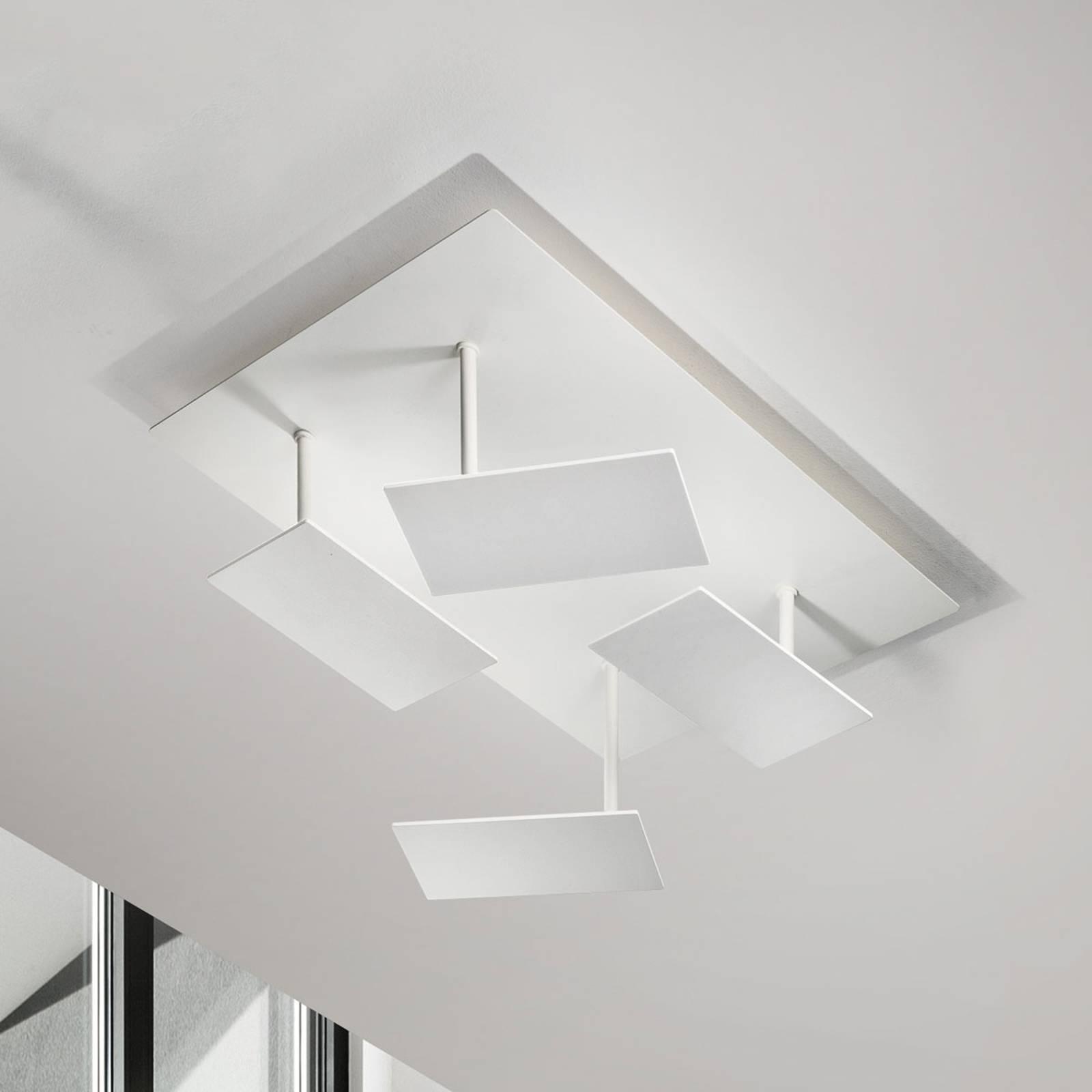Weiße, moderne LED-Deckenleuchte Time, verstellbar